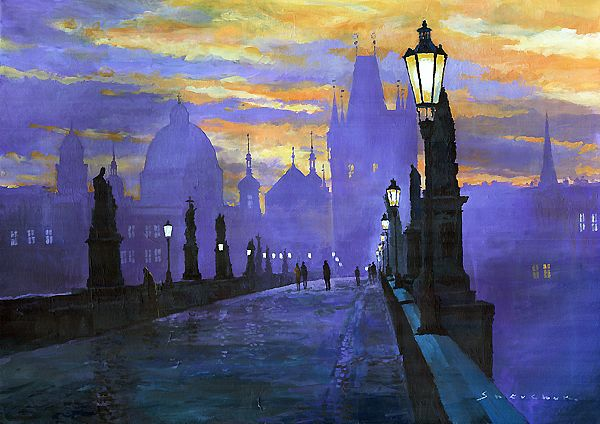 Yuriy #SHEVCHUK, &quot;PRAGUE CHARLES BRIDGE SUNRISE&quot; #Mozart #DonGiovanni #art #arttwit #iloveart #YuriyShevchuk #prague #twitart #artlover<br>http://pic.twitter.com/dSM9ohU9p4