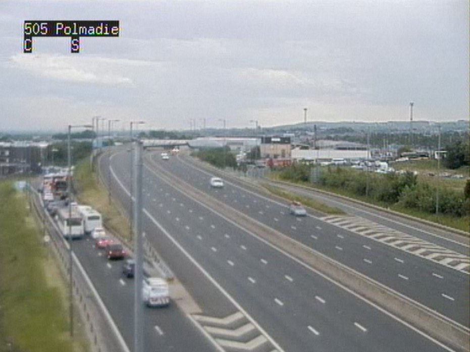 test Twitter Media - #M74 S/B exit slip queuing at J1A Polmadie Road due to traffic heading to Hampden Park ⚽ Traffic very busy in surrounding routes ⚠ https://t.co/GKoP0BVhu4