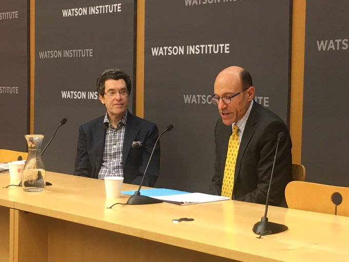 .@NormEisen speaking at Brown University's @WatsonInstitute: 'Donald Trump has really allowed me to cut loose!'