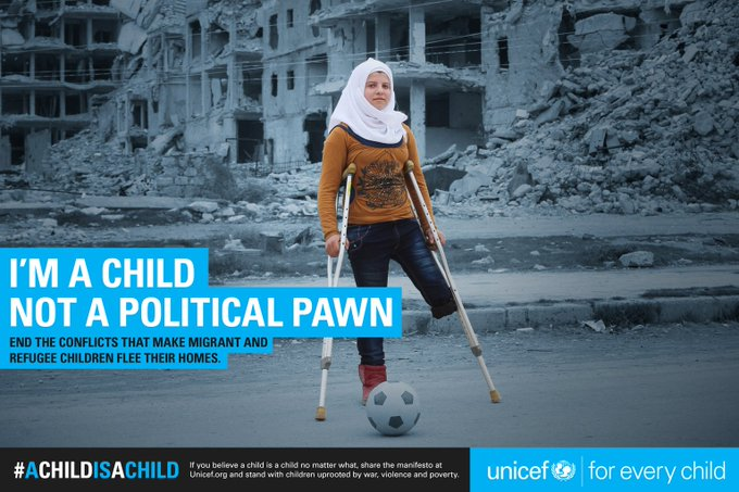 #AChildIsAChild - no matter what side you're on.   RT to stand with #ChildrenUprooted. #G7 #G7summit