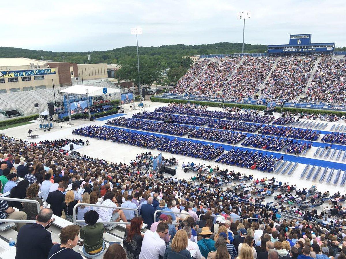Congratulations to the 5,883 graduates today! #UDGrad2017 #BlueHensForever