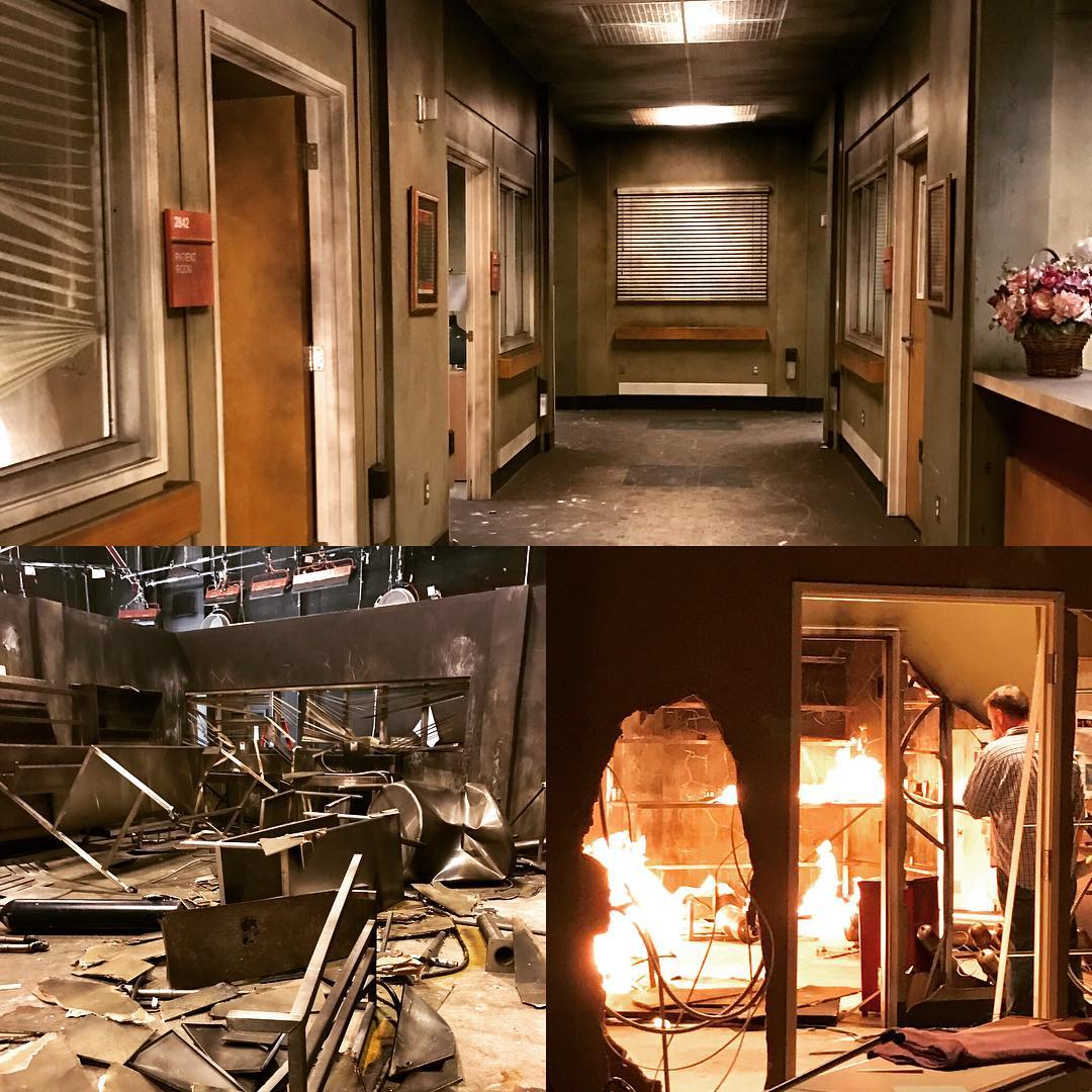 The Grey+Sloan Memorial Hospital fire aftermath.  #GreysAnatomy  #Season13Finale   https://www. instagram.com/p/BUlEcg_hfvx/  &nbsp;  <br>http://pic.twitter.com/ZyJezPoBQ6