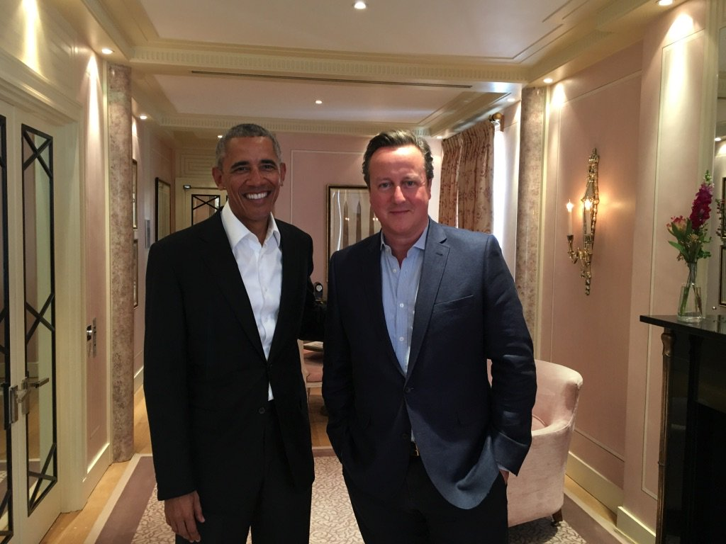 Great to catch up with my good friend @BarackObama today.