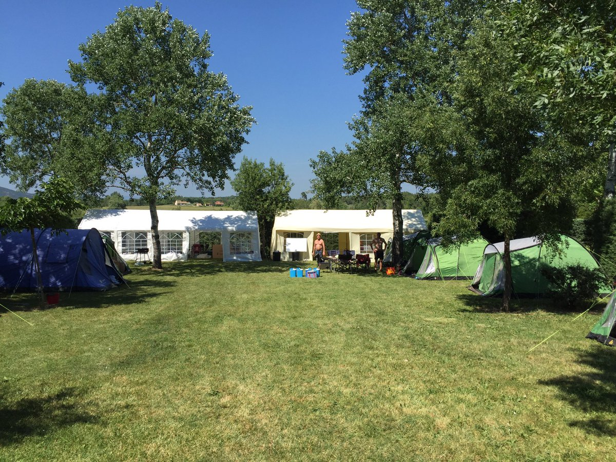 32 bikes, 25 tents, 2 marquees all set up and waiting for the Rodillian MAT students to join us @BBGAcademy @FeatherstoneAca  #resilience