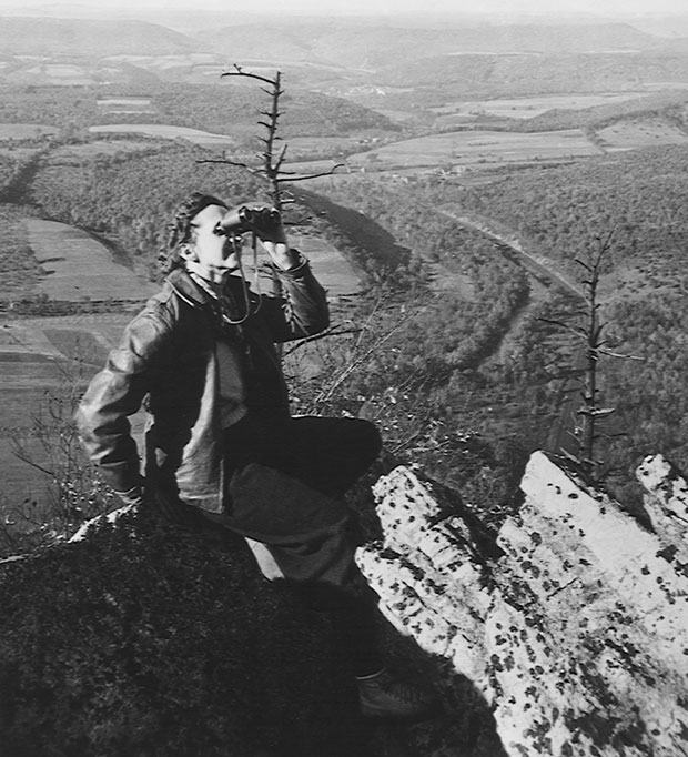 Rachel Carson at Hawk Mountain, Pennsylvania. USFWS photo.