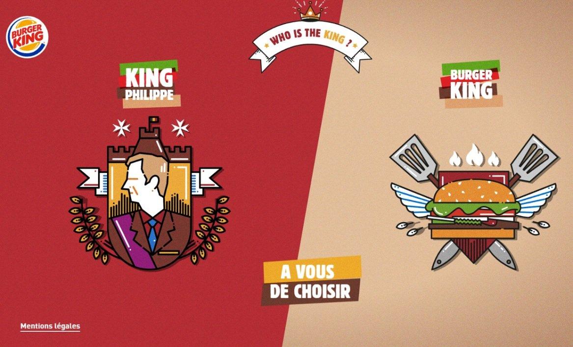 Le roi des Belges vexé par une publicité de Burger King https://t.co/mp52K5BPnp