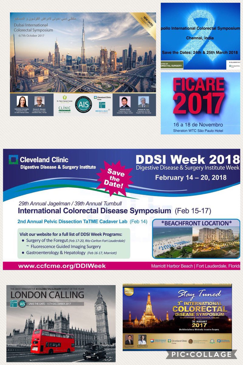 #strong #international #collaboration #colorectalsurgery meetings coming up. Lots of new #innovation &amp; #clinicaltrials to be discussed 17/18<br>http://pic.twitter.com/hQEFjMOOwA