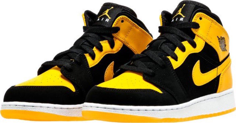 sports shoes 6f929 208b4 air jordan retro 1 new love mid grade school lifestyle shoe black varsity  maize white