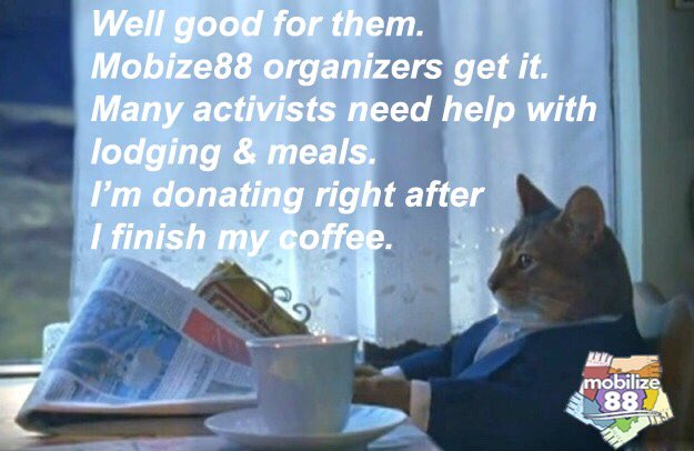 Help grassroots activists attend Ohio Leadership Summit.  #Caturday #mobilize88 Donation for lodging and food  http:// bit.ly/2rDeAmU  &nbsp;  <br>http://pic.twitter.com/I4fChcDHhy