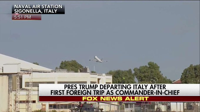 MOMENTS AGO: Air Force One takes off for the United States.
