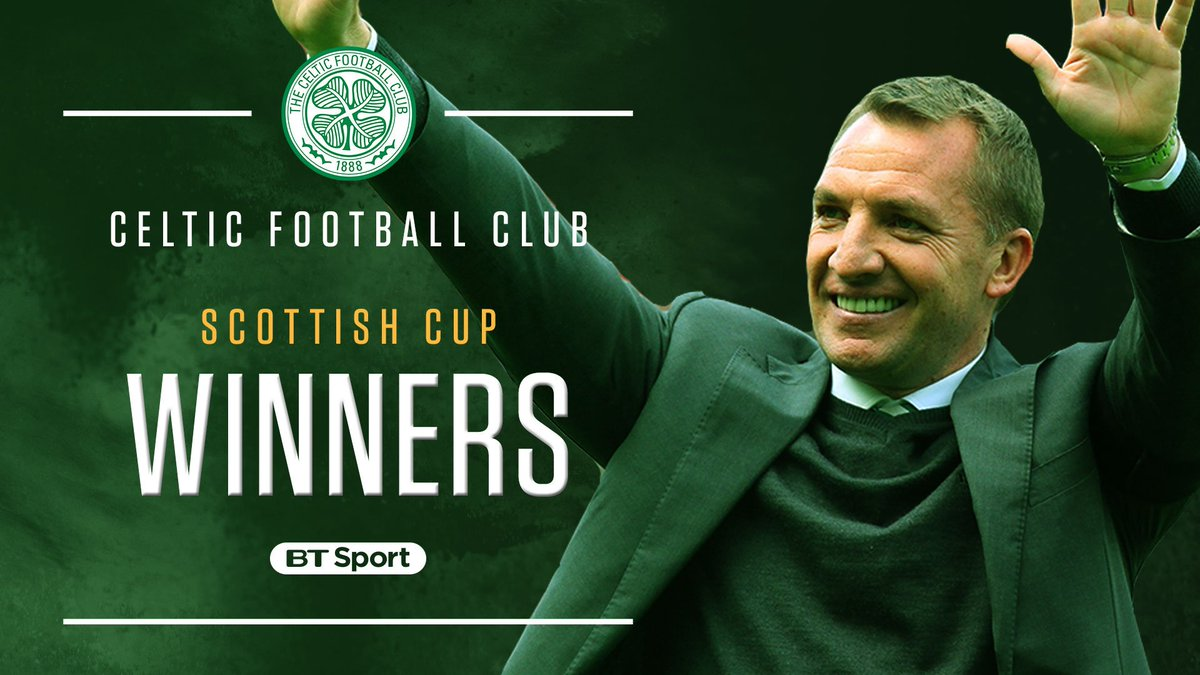 🏆 Scottish Premiership 🏆 Scottish League Cup 🏆 Scottish Cup  Treble invincibles for Celtic and Brendan Rodgers 👏  What a season!