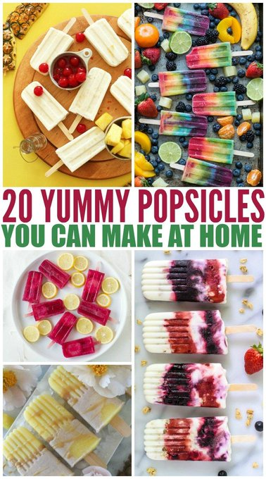 20 Yummy Popsicles to Make at Home