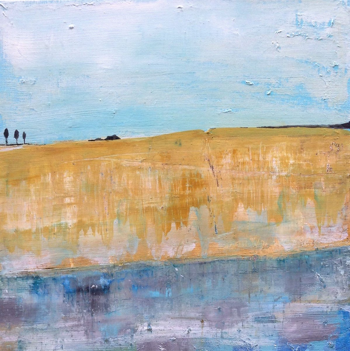 Summer Landscape - acrylic on board #art #painting #abstract #landscape #interiordesign #decor #interiors #new #forsale #summer #available<br>http://pic.twitter.com/J7ar7sGOS5