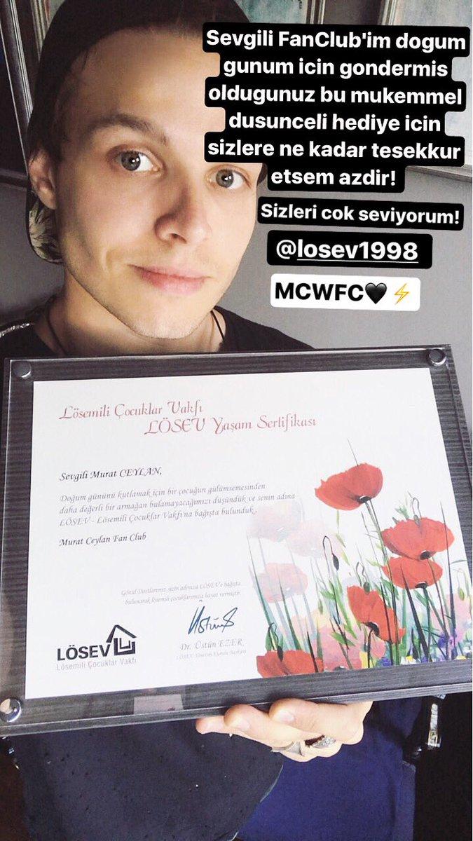Turkiye de olmadigim icin bugun gecmis dogum gunu hediyemi sevgili MCWFC den almis bulunmaktayim. Tesekkur ederim,en guzeli en!@losev1998