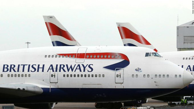 British Airways has canceled all Saturday flights from London's two biggest airports https://t.co/vE81cNKasp