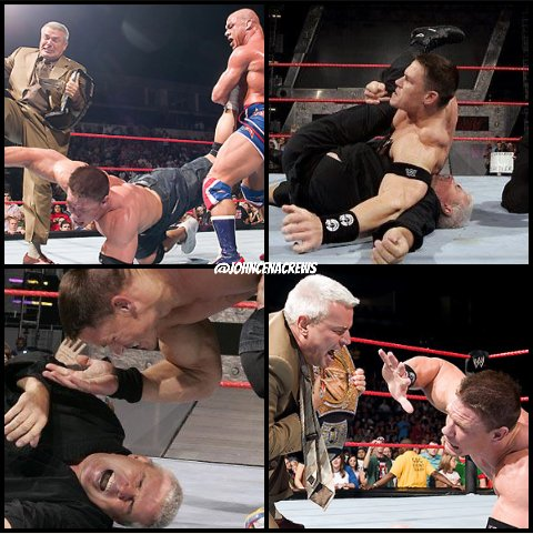 Happy Birthday to former #Raw General Manager @EBischoff. Here are some photos of moments he had with @JohnCena! #HappyBirthdayBischoff<br>http://pic.twitter.com/UOmn8IQ3yh