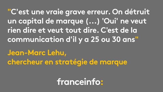 TGV rebaptisé in-OUI : une 'grave erreur' de la SNCF, 'c'est de la communication d'il y a 25 ou 30 ans' https://t.co/V5Jjc0Ge06