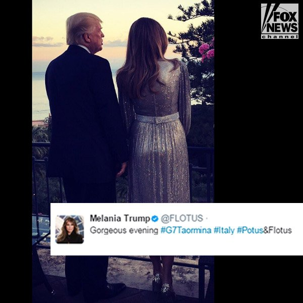 Last night, First Lady Melania Trump tweeted out a photo of herself and President Donald J. Trump in Italy.