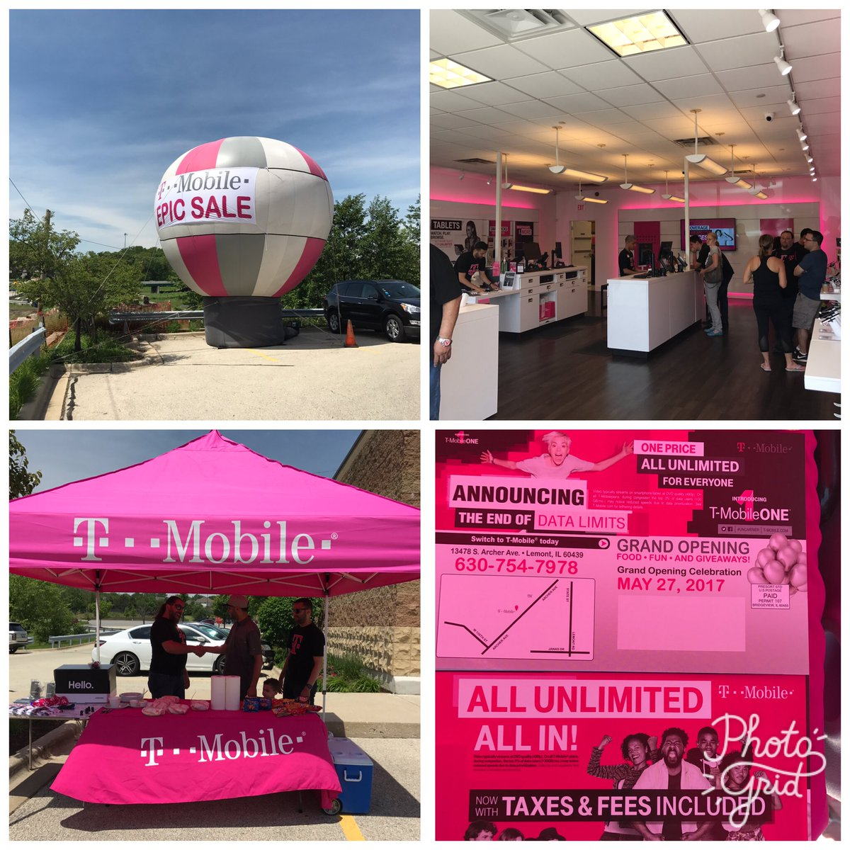 Celebrating our Grand Opening at our New T-Mobile location at Lemont, IL #ncredible @willingofficial @Kenyadunn12 @CP_Polizzi<br>http://pic.twitter.com/73aX9OLkuN