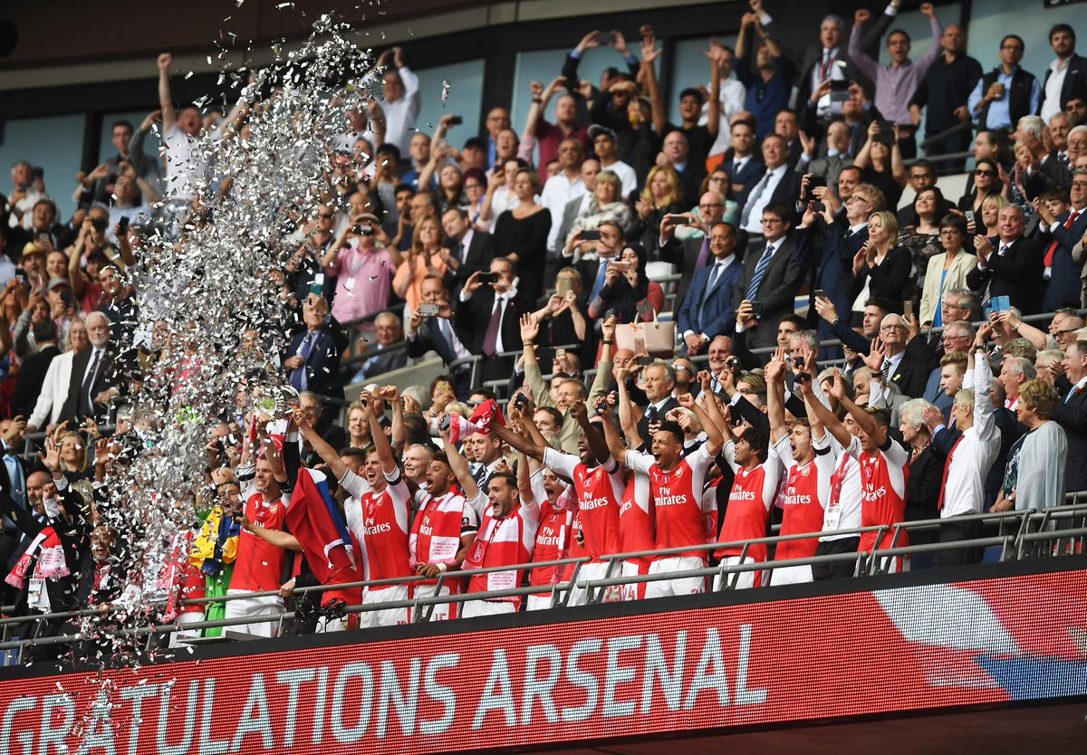 Congratulations @Arsenal 👏  #FACup winners for 2016/17! https://t.co/2...