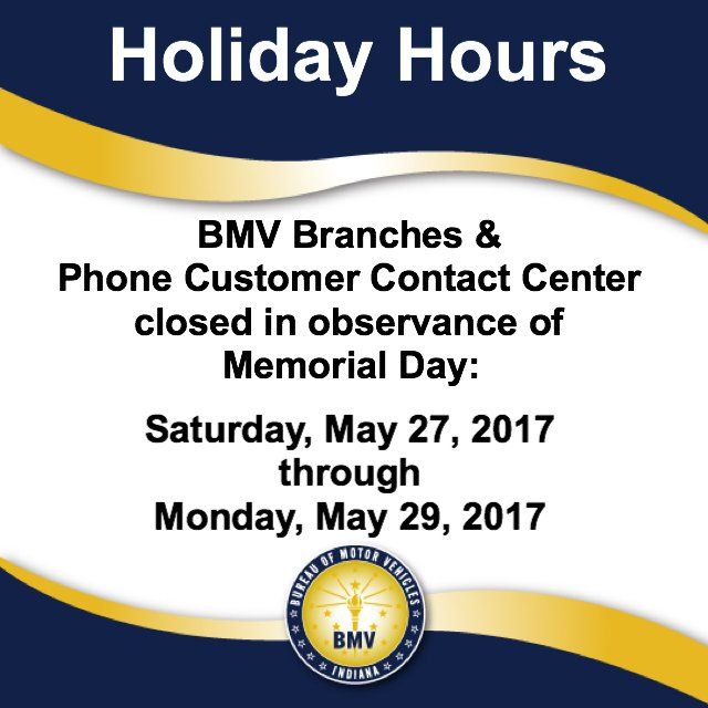 bureau of motor vehicles indiana hours