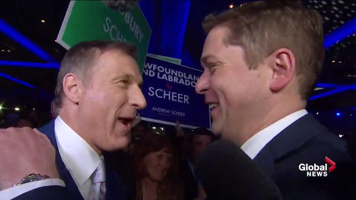 Andrew Scheer announced as the new leader of the federal Conservative...
