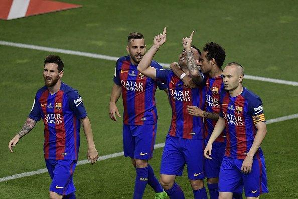 هدف برشلونة الثالث في مرمى ألافيس