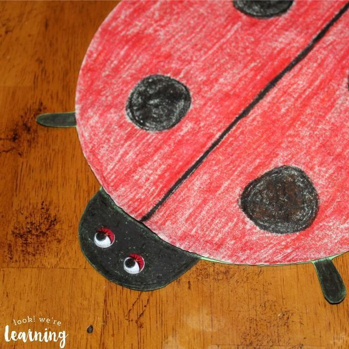 Easy Coffee Filter Ladybug Craft