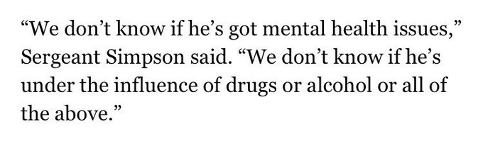 This quote is about the white supremacist who killed two folks in Portland on Friday. How about: he was radicalized? https://t.co/LrJ6rFRQgd