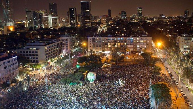 '50 Jahre sind genug': Tausende Israelis demonstrieren für Frieden https://t.co/JQaOnwYyos