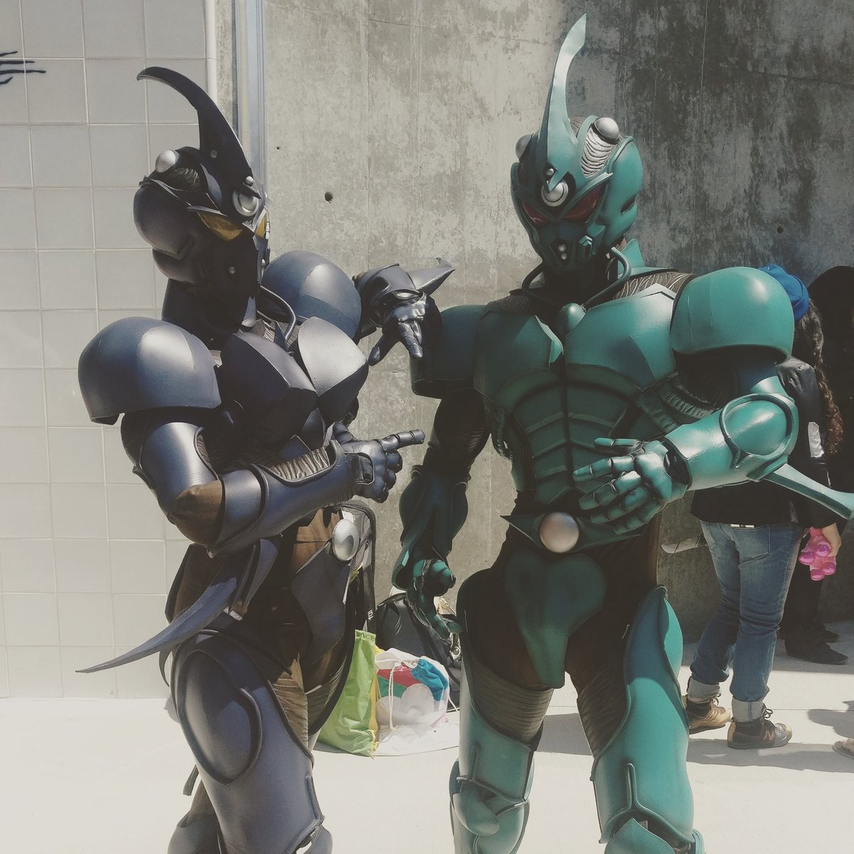 #guyver units boosted into #FanimeCon2017 #FanimeCon