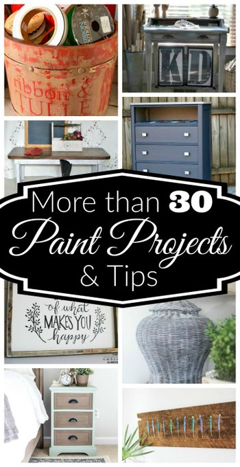 30 Plus Paint Projects and Tips ⋆ Cupcakes and Crinoline