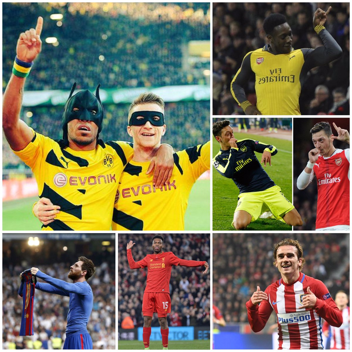 @officialpes @Adam_Bhatti @AsimTanvir Will we see any of this celebrations on #PES2018 ? they are all from players of partner clubs <br>http://pic.twitter.com/Tz5AbsmSCh