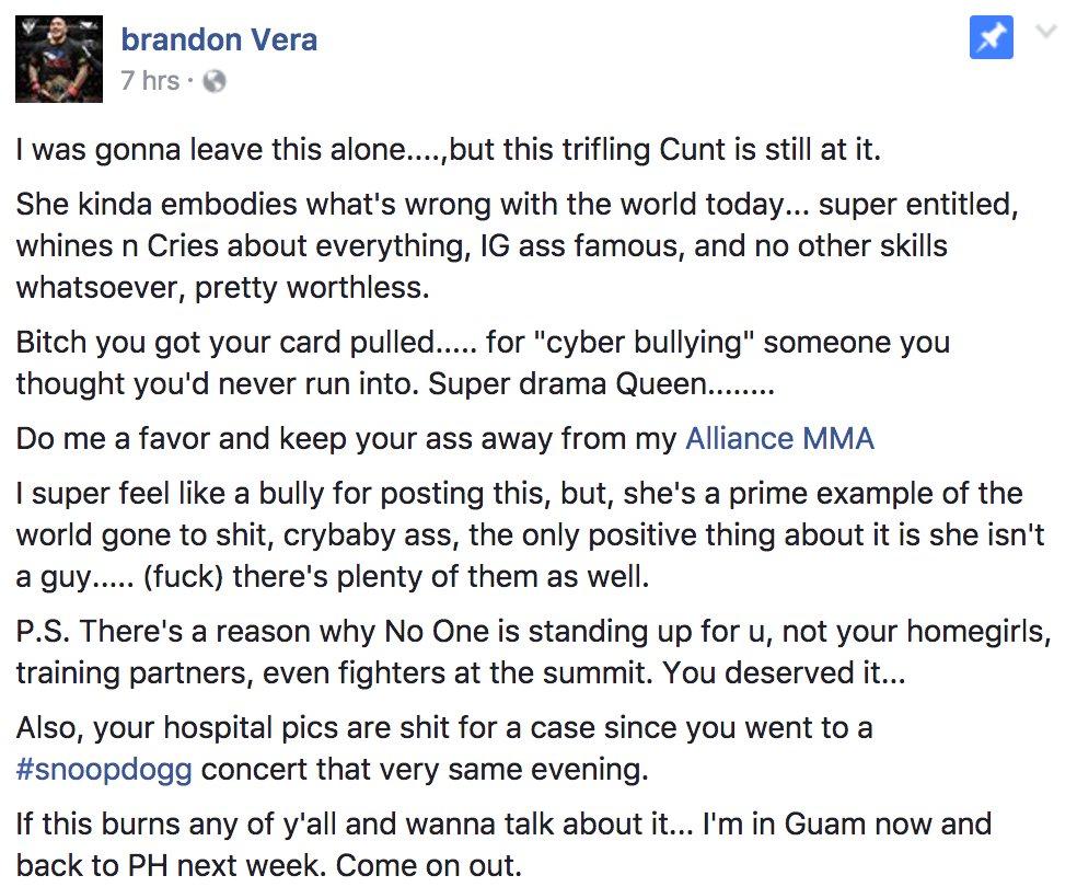 Angela Magana Uncensored pic: very angry brandon vera calls angela magana a worthless