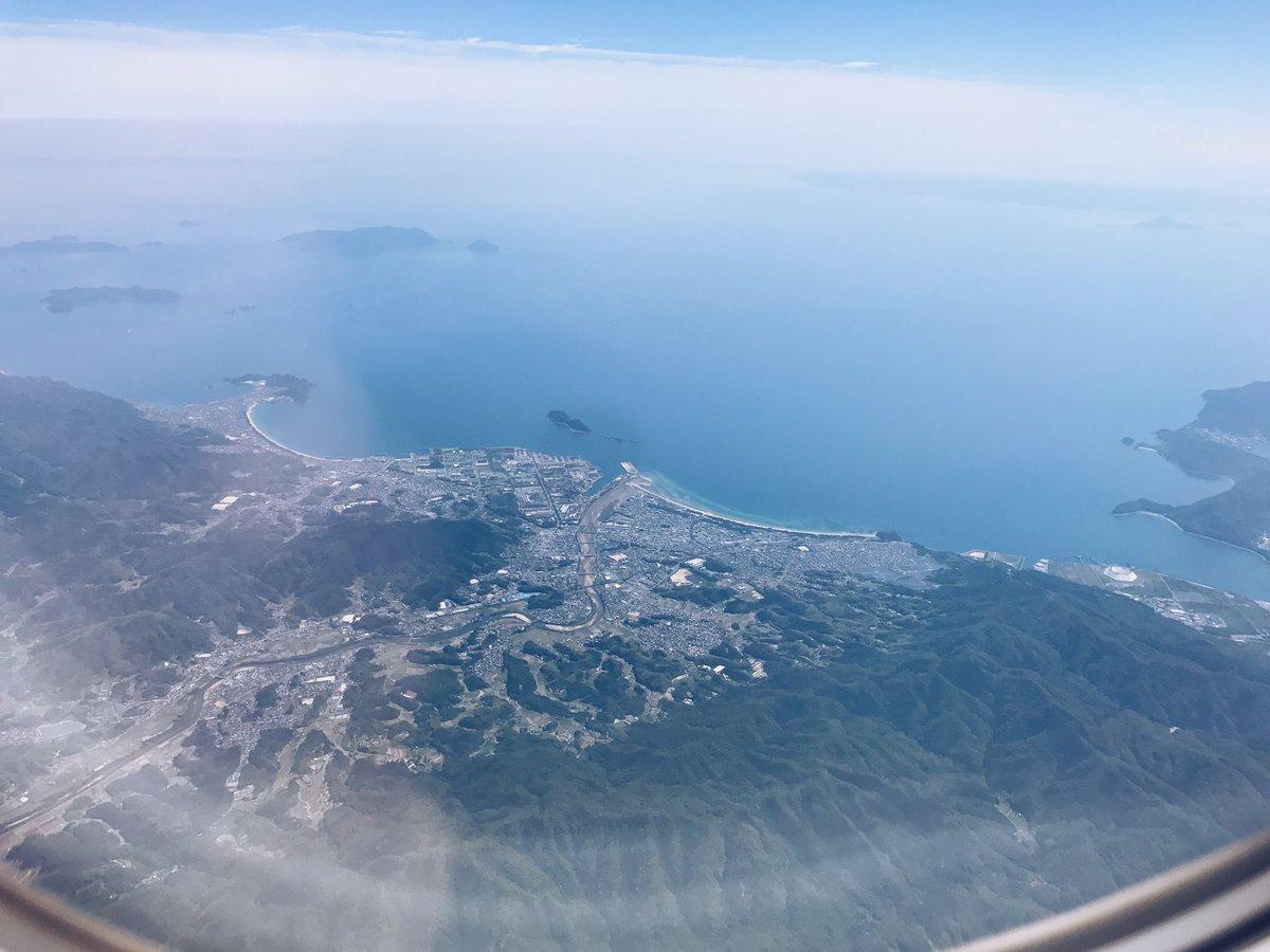 左が室積、右が虹ヶ浜。徳山は真上通るから今日も見えなかった… https://t.co/ag9u5BTAQm