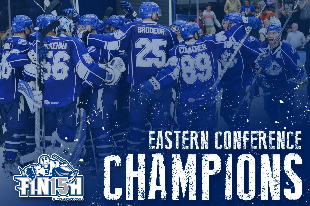 EASTERN CONFERENCE CHAMPIONS!   We're going to the #CalderCup Finals! #FIN15H https://t.co/LSNJaok5P1
