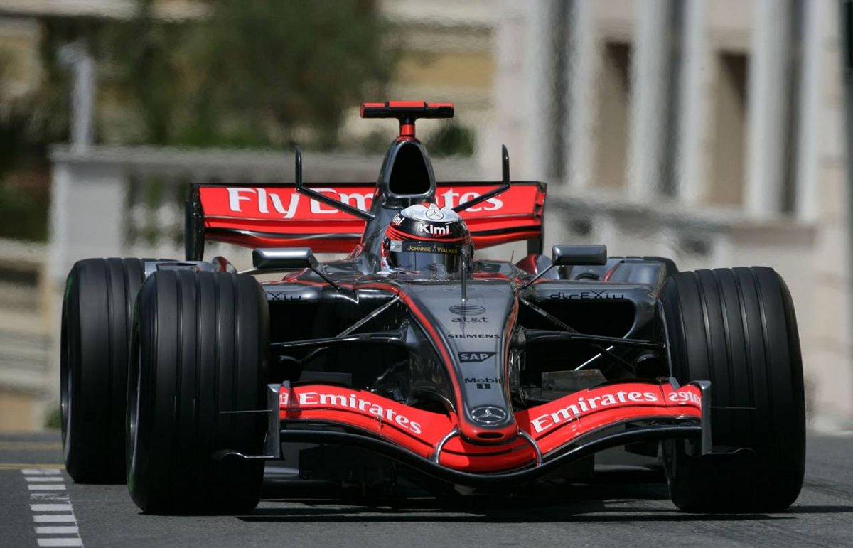 2006 - Kimi Räikkönen overtakes Mark Webber in Monaco
