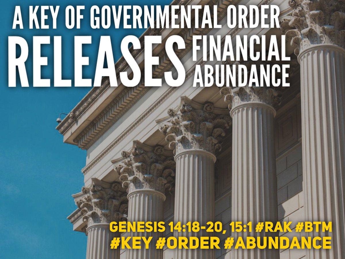 #RAK Nugget A Key of Governmental Order releases financial abundance (Genesis 14:18-20, 15:1) #RAK #BTM #KEY #ORDER #ABUNDANCE<br>http://pic.twitter.com/rOg8Sp8bEU
