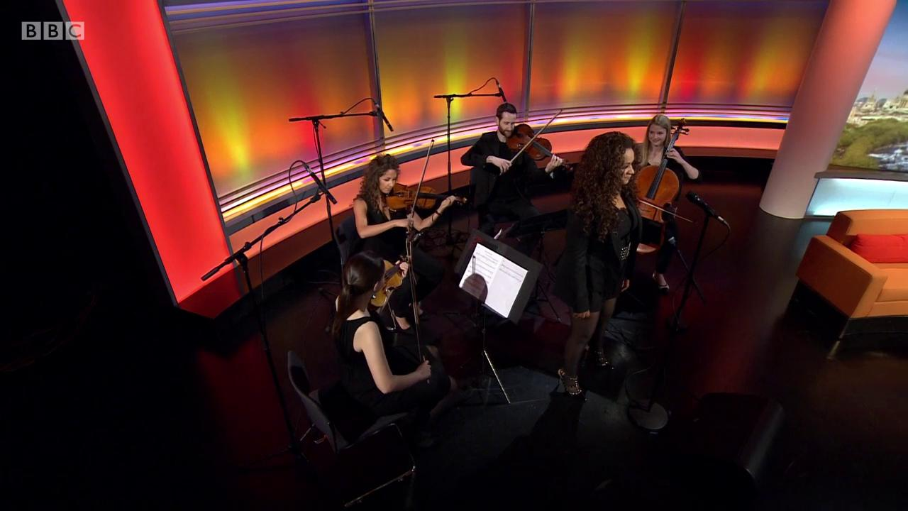 RT @MarrShow: WATCH: @Rowetta joins the @MancCamerata to play tribute to Manchester in a moving performance #marr https://t.co/zXFTBnoNKK