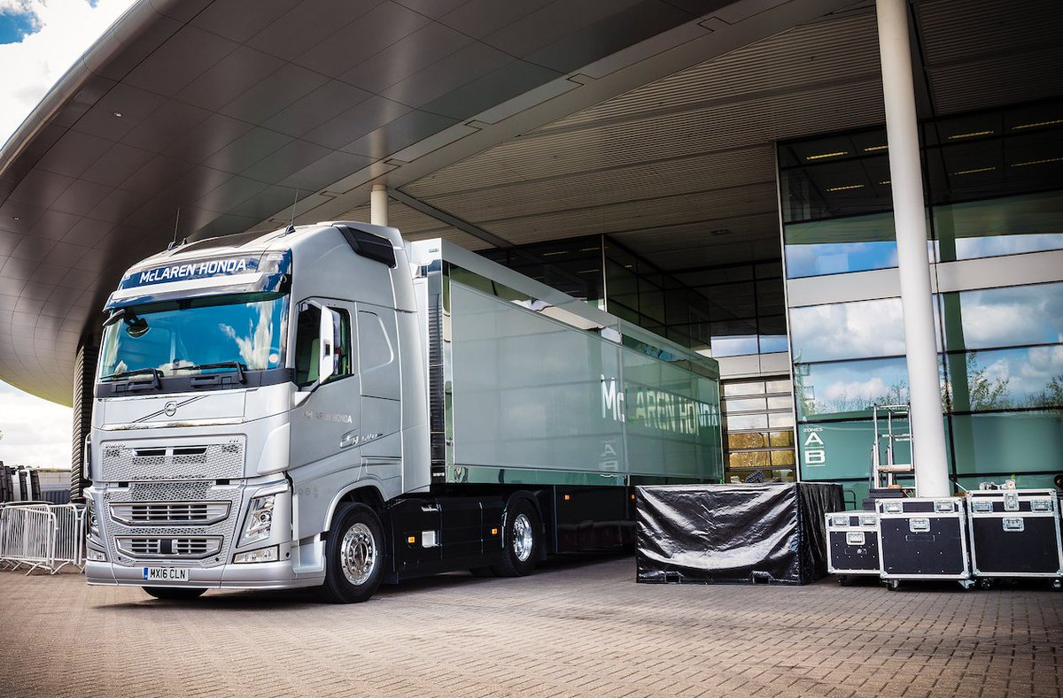 Will you be watching the #MonacoGP @F1 this afternoon? Were proud to be the official supplier of trucks to the @McLarenF1 team ☺️