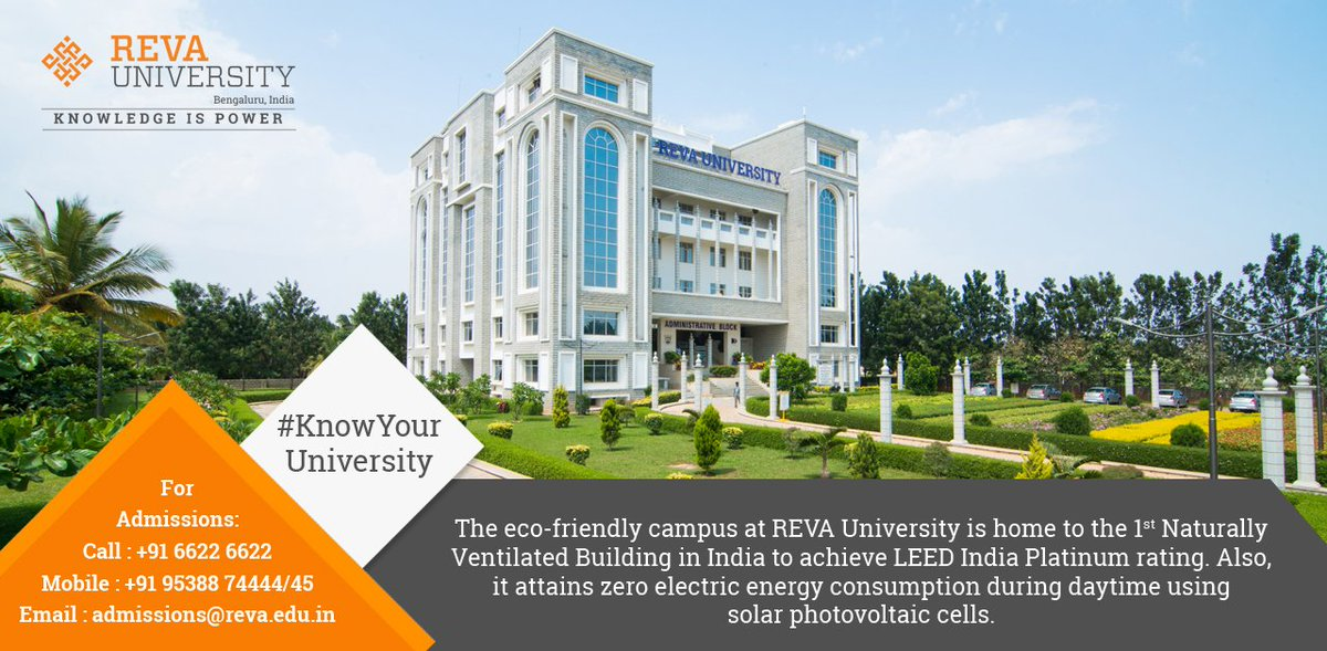 Reva University On Twitter The Green Campus At Revauniversity Has