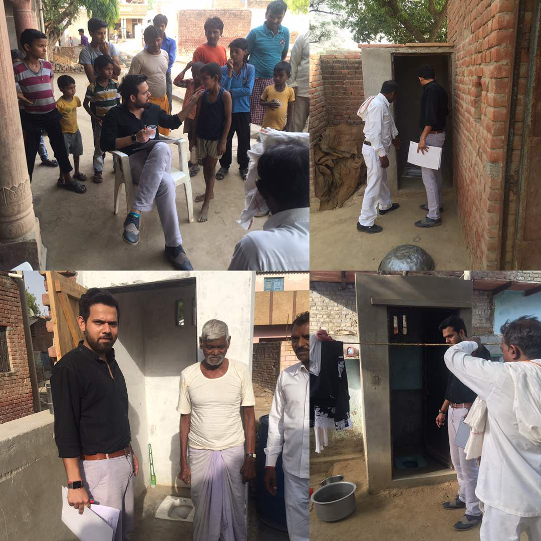 Inspecting #toilet constructed and their #usability in block #shamshabad #Agra built under #SwachhBharat #MyCleanIndia<br>http://pic.twitter.com/0wQNUiw3Kq
