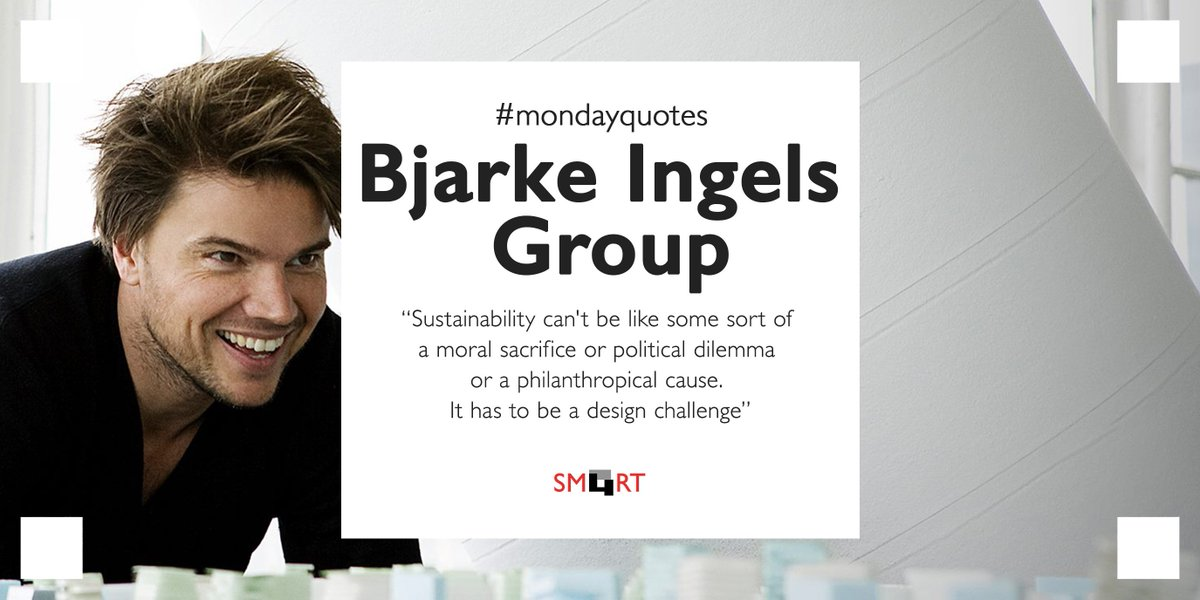 We couldn&#39;t be more in love with this awesome quote by @BjarkeIngels on #sustainability!   #mondayquote<br>http://pic.twitter.com/qLnx4IHG3s