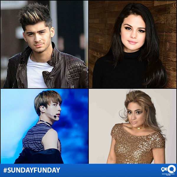 #Zayn, #Jin, #SelenaGomez, #AllyBrooke who's on your #SundayFunday pla...