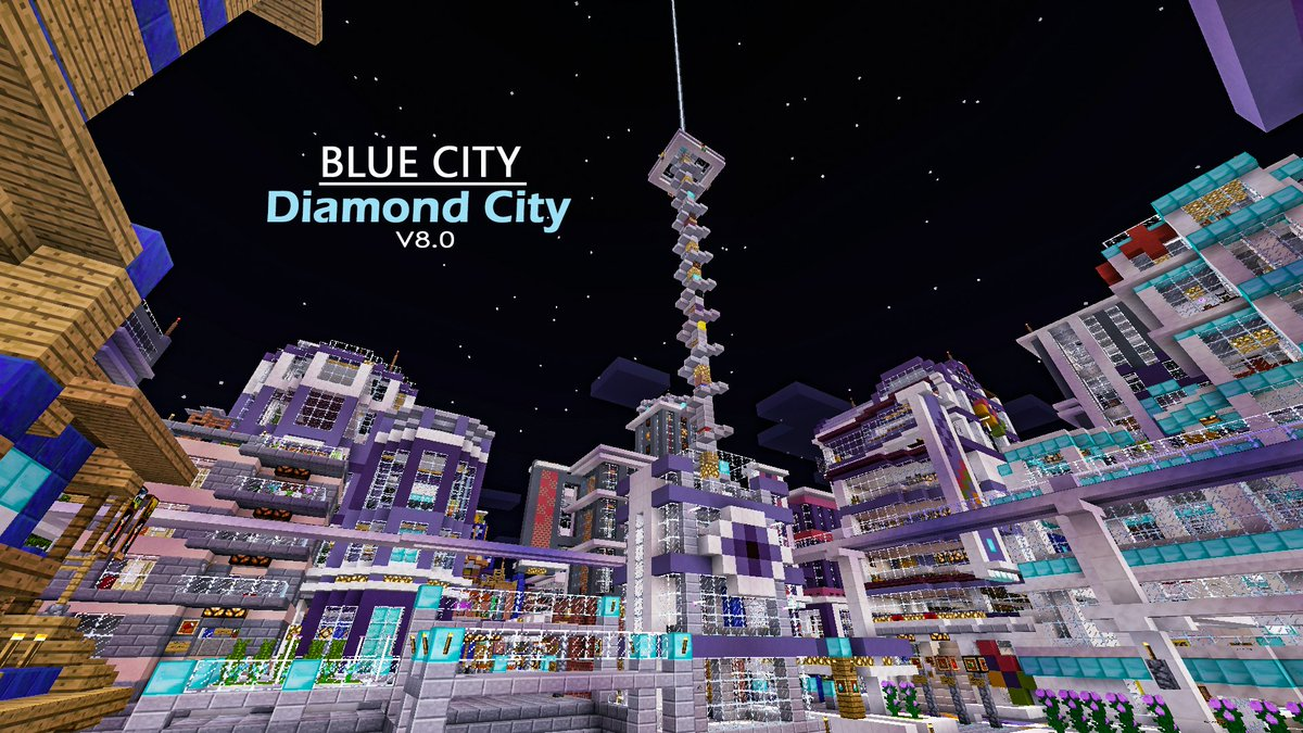 Blue Topia MC On Twitter Download The Best City Map In MCPE - Die besten maps fur minecraft pe