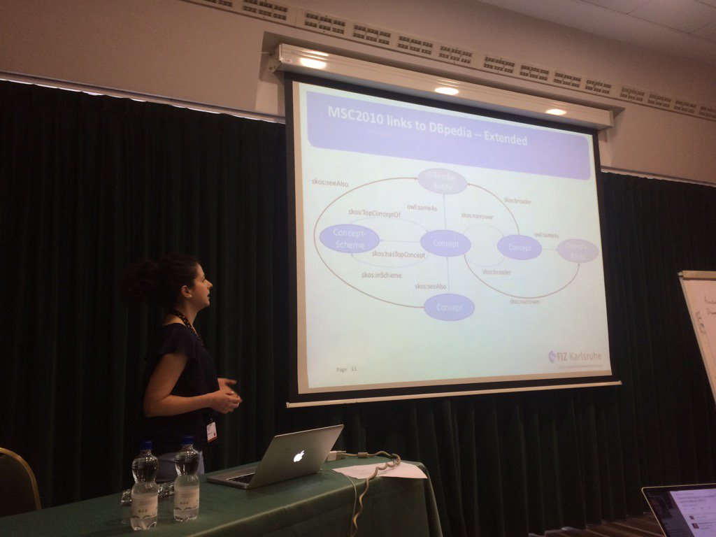 @eswc_conf Maria Koutraki on leveraging mathematics for #scientometrics @lysander07<br>http://pic.twitter.com/KZN0FXljxr