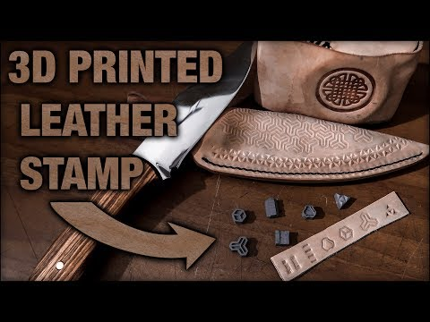 3D Printed DIY Leather Stamps