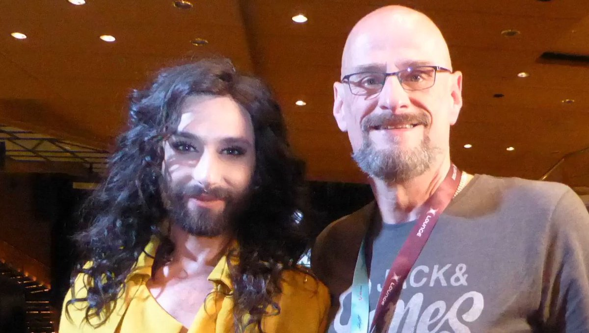 Interview by Radio #Pride #Berlin with #Conchita during the #RainbowCruise  https://www. facebook.com/ConchitasWurst gemeinde/posts/1464956143567524 &nbsp; …  #TUICruises #Eurovision #Icon<br>http://pic.twitter.com/w1wtyEZiIi