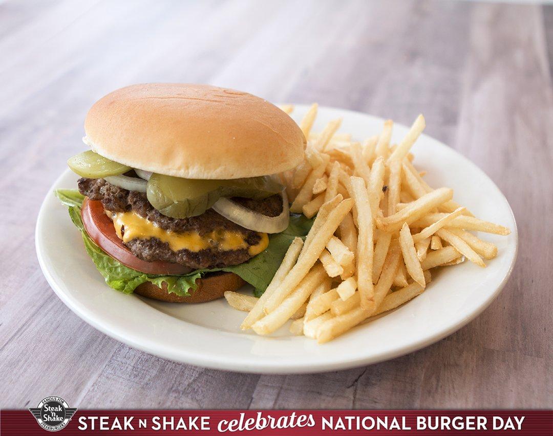 Celebrate #NationalHamburgerDay the Steak 'n Shake way... with a Steak...