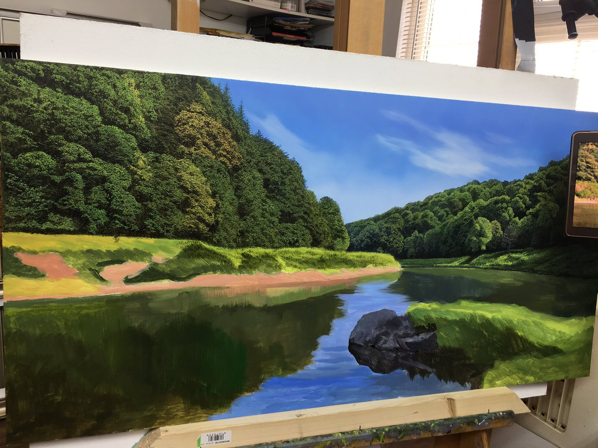 Michael James Smith On Twitter Latest Oil Painting 4 Days In To Go Landscapes Oilpainting